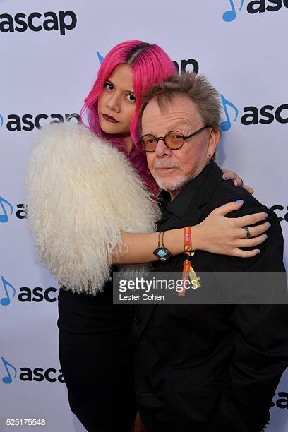Recording artist Allison Iraheta of Halo Circus and ASCAP President and Chairman Paul Williams attend the 2016 ASCAP Pop Awards at the Dolby Ballroom...