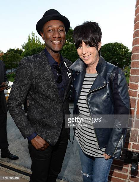 Recording artist Aloe Blacc and songwriter Diane Warren attend City Of Hope's 11th Annual Songs Of Hope Event on June 11 2015 in Brentwood California