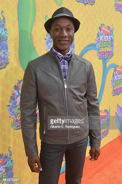 Recording artist Aloe Blacc attends Nickelodeon's 27th Annual Kids' Choice Awards held at USC Galen Center on March 29 2014 in Los Angeles California