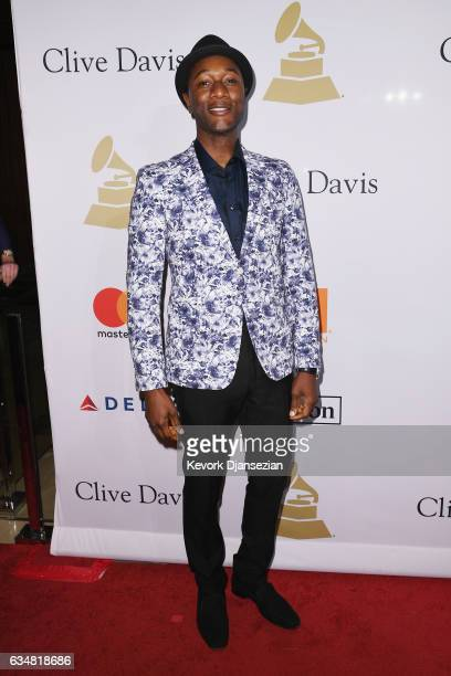 Recording artist Aloe Blacc attends PreGRAMMY Gala and Salute to Industry Icons Honoring Debra Lee at The Beverly Hilton on February 11 2017 in Los...