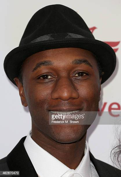 Recording artist Aloe Blacc attends the 46th NAACP Image Awards presented by TV One at Pasadena Civic Auditorium on February 6 2015 in Pasadena...