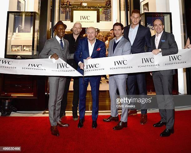 Recording artist Aloe Blacc IWC Schaffhausen CEO Georges Kern actor James Marsden basketball player Blake Griffin and Brand President Edouard...