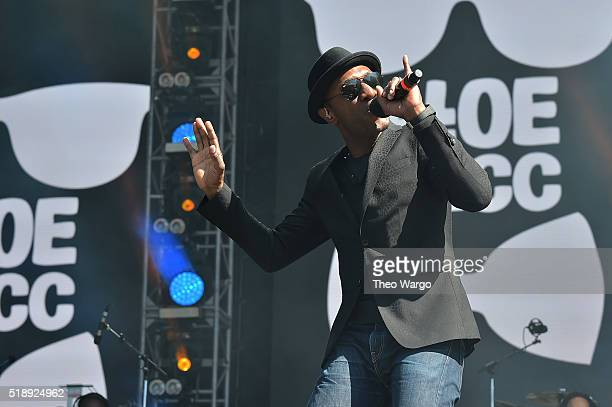Recording artist Aloe Blacc performs on stage during Capital One JamFest at the NCAA March Madness Music Festival Day 3 at Discovery Green on April 3...