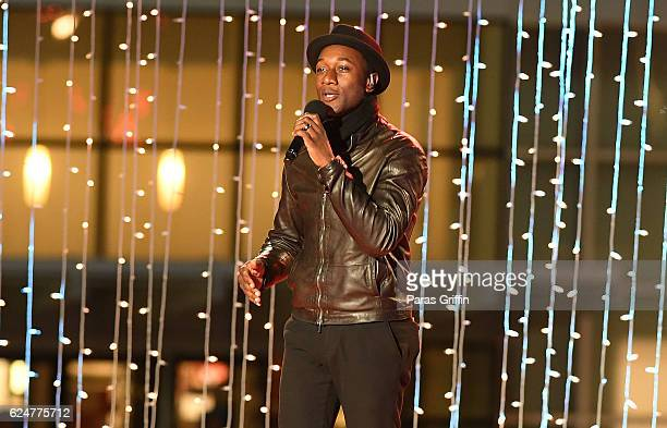 Recording artist Aloe Blacc performs onstage at 69th Annual Macy's Great Tree Lighting at Lenox Square on November 20 2016 in Atlanta Georgia