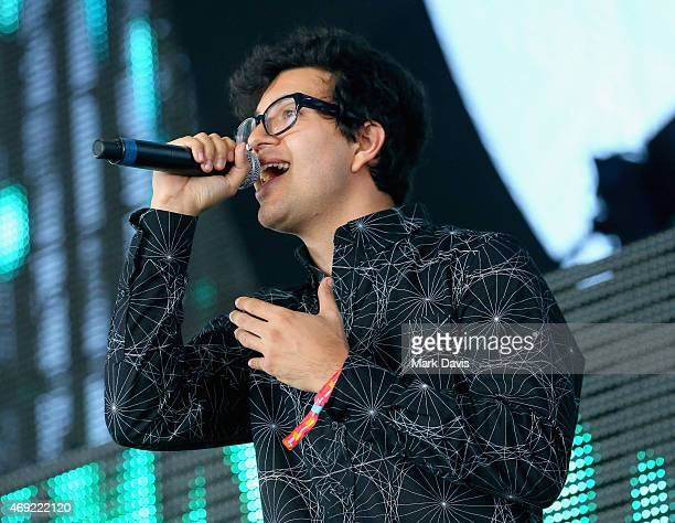 Recording artist Alvin Risk performs onstage during day 1 of the 2015 Coachella Valley Music Arts Festival at the Empire Polo Club on April 10 2015...