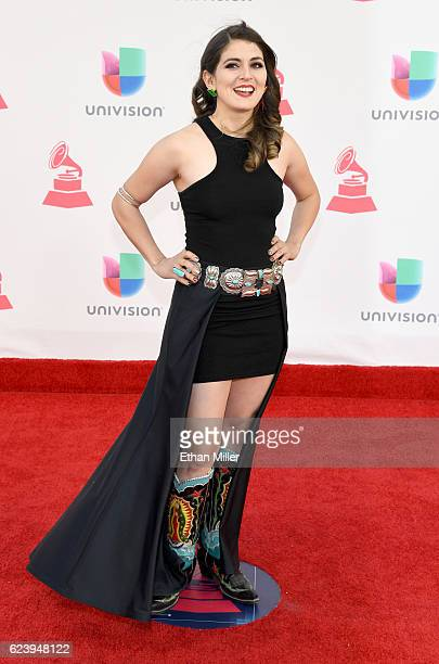 Recording artist Amalia Mondragon attends The 17th Annual Latin Grammy Awards at TMobile Arena on November 17 2016 in Las Vegas Nevada