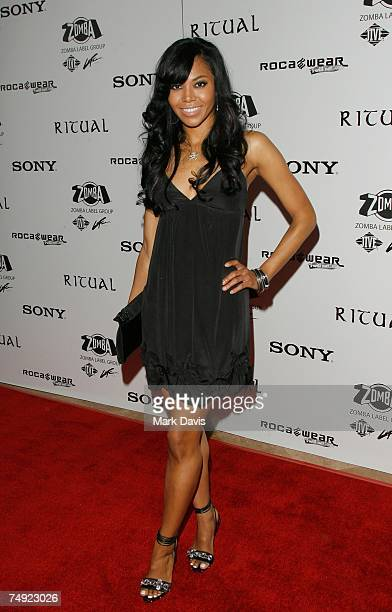 Recording artist Amerie arrives to Zomba Label Group's PreBET Awards Party featuring Ciara held at Ritual Nightclub on June 25 2007 in Hollywood...