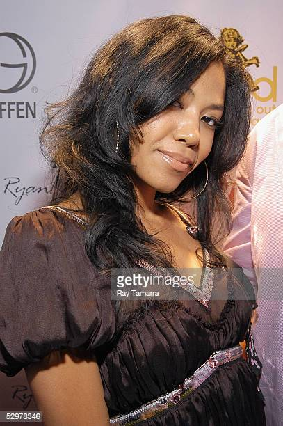 Recording artist Amerie poses for photos at Common's 'BE' Album Release Party at PM Lounge May 24 2005 in New York City