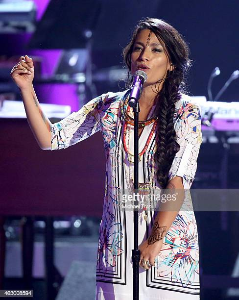 Recording artist Ana Tijoux performs onstage during The 57th Annual GRAMMY Awards premiere ceremony at STAPLES Center on February 8 2015 in Los...