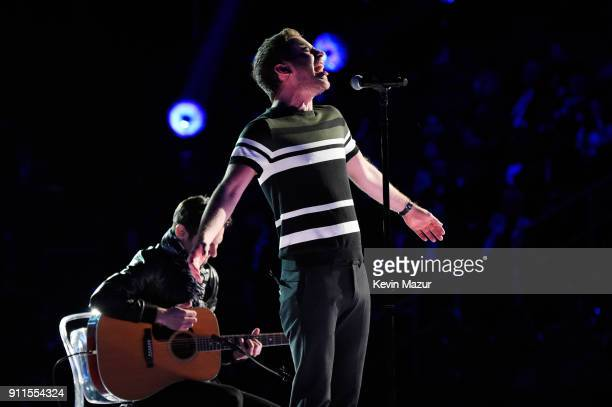 Recording artist and actor Ben Platt performs onstage during the 60th Annual GRAMMY Awards at Madison Square Garden on January 28 2018 in New York...