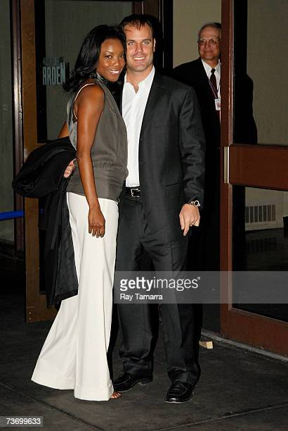Recording artist and actor Heather Headley and husband Brian Musso attend Elton John's 60th Birthday Concert Celebration at Madison Square Garden...