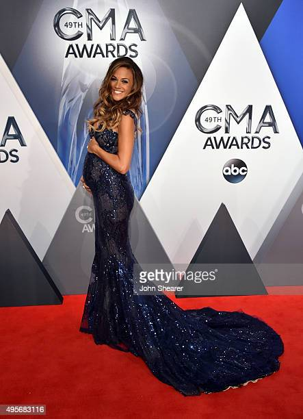 Recording artist and actress Jana Kramer attends the 49th annual CMA Awards at the Bridgestone Arena on November 4, 2015 in Nashville, Tennessee.