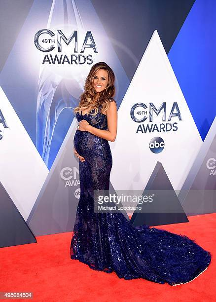 Recording artist and actress Jana Kramer attends the 49th annual CMA Awards at the Bridgestone Arena on November 4 2015 in Nashville Tennessee