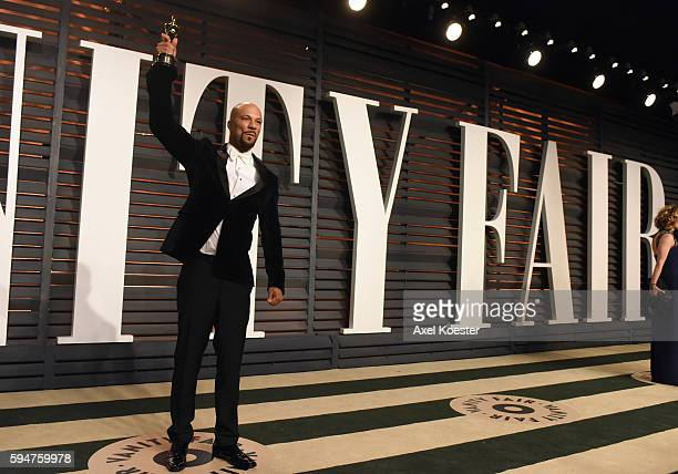 Recording artist and Best Music Award winner Common attends the 2015 Vanity Fair Oscar Party hosted by Graydon Carter at the Wallis Annenberg Center...