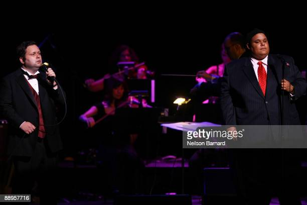 Recording artist and 'Britains Got Talent winner Paul Potts and recording artist and Americas Got Talent winner Neal E Boyd perform at The Beacon...