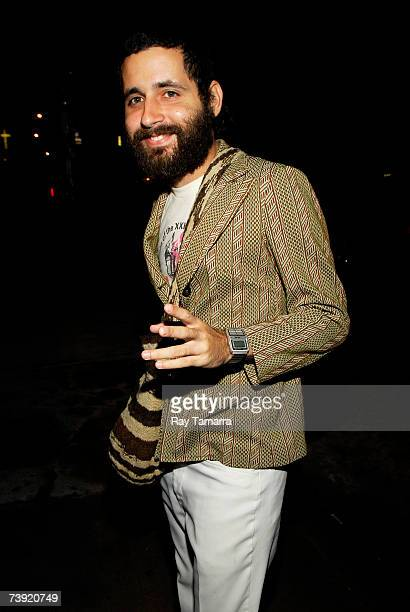 Recording artist and Calle 13 member Eduardo Visitante Cabra attends the Latina Magazine Issue Release Party at Stereo April 18 2007 in New York City