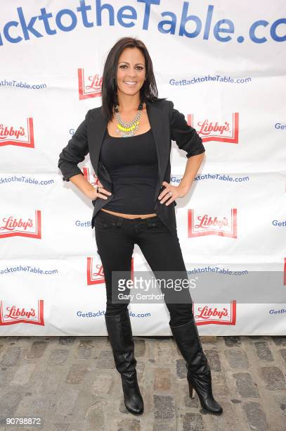 Recording artist and event judge Sara Evans celebrates Get Back to the Table month at the South Street Seaport on September 15 2009 in New York City