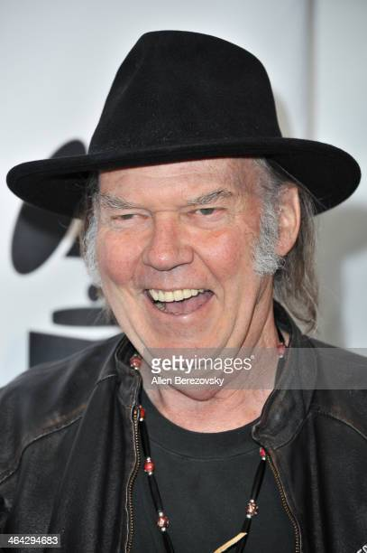 Recording artist and honoree Neil Young attends the 7th Annual GRAMMY Week Producers Engineers Wing Event honoring Neil Young at The Village...
