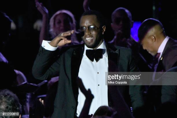 Recording artist and producer Sean 'Diddy' Combs attends the Clive Davis and Recording Academy PreGRAMMY Gala and GRAMMY Salute to Industry Icons...