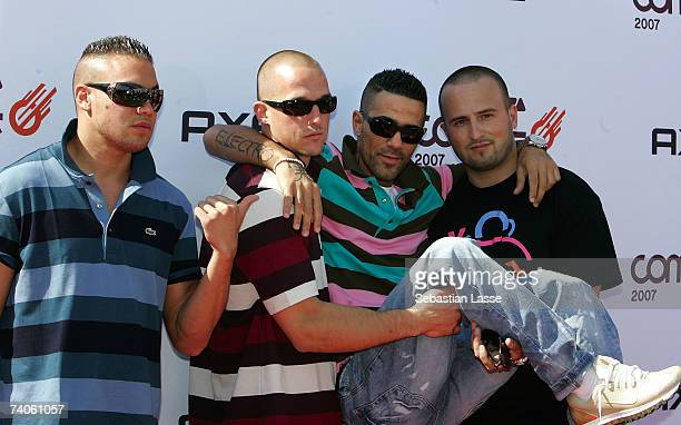 Recording artist and Rapper Bushido poses at the Comet Award on May 3, 2007 in Cologne.