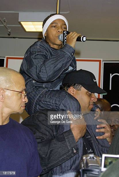 Recording artist and teen rapper Lil'' Bow Wow performs January 19 2001 at Macys in New York City