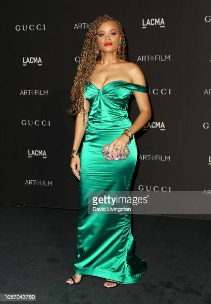 Recording artist Andra Day attends 2018 LACMA Art Film Gala honoring Catherine Opie and Guillermo del Toro presented by Gucci at LACMA on November 3...