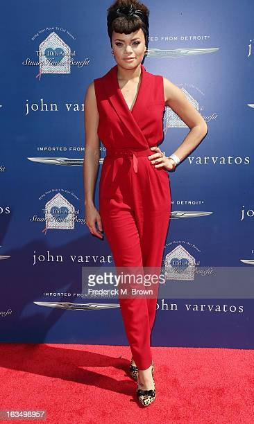 Recording artist Andra Day attends John Varvatos 10th Annual Stuart House Benefit Presented by Chrysler, at John Varvatos Los Angeles on March 10,...