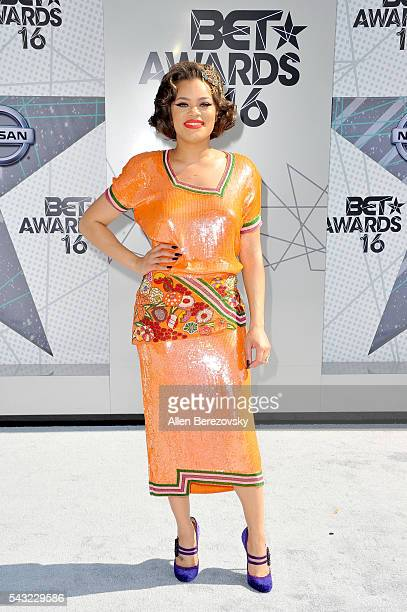 Recording artist Andra Day attends the 2016 BET Awards at Microsoft Theater on June 26 2016 in Los Angeles California