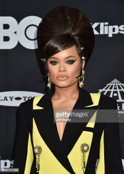 Recording artist Andra Day attends the 33rd Annual Rock Roll Hall of Fame Induction Ceremony at Public Auditorium on April 14 2018 in Cleveland Ohio