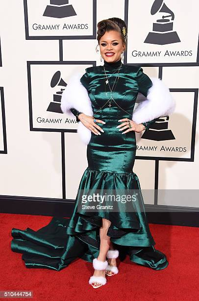 Recording artist Andra Day attends The 58th GRAMMY Awards at Staples Center on February 15 2016 in Los Angeles California