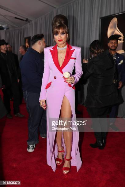 Recording artist Andra Day attends the 60th Annual GRAMMY Awards at Madison Square Garden on January 28 2018 in New York City