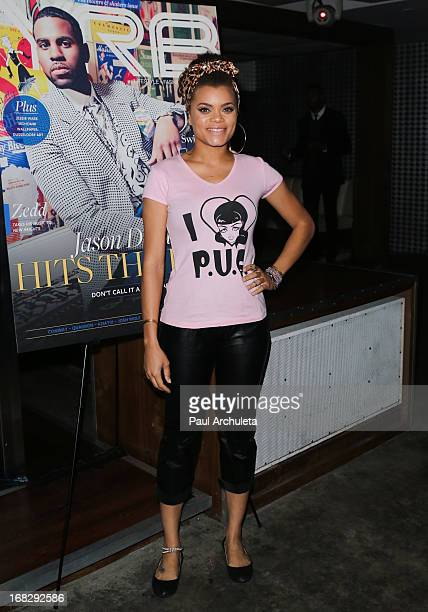 Recording Artist Andra Day attends the YRB Magazine cover release party for Jason Derulo at Couture Night Club on May 7, 2013 in Los Angeles,...