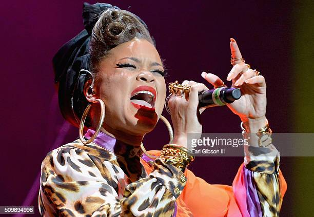 Recording artist Andra Day performs onstage during the 2016 Essence Black Women in Music event at Avalon on February 11, 2016 in Hollywood,...