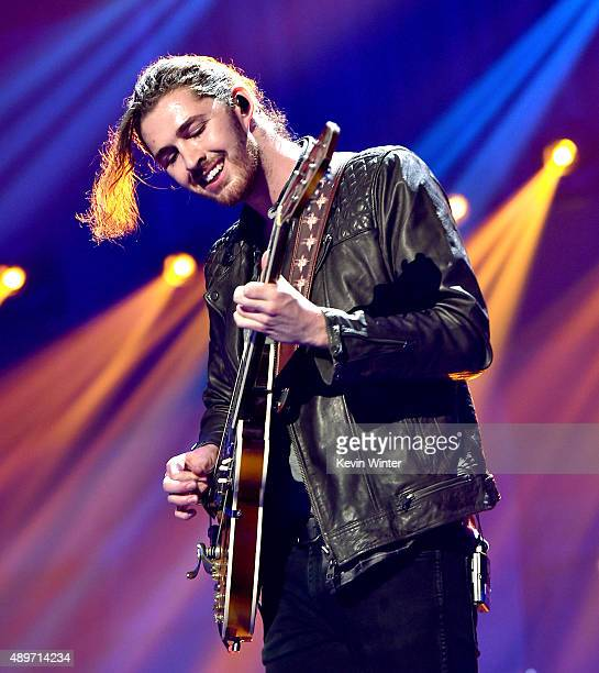 Recording artist Andrew HozierByrne of Hozier performs at the 2015 iHeartRadio Music Festival at the MGM Grand Garden Arena on September 19 2015 in...