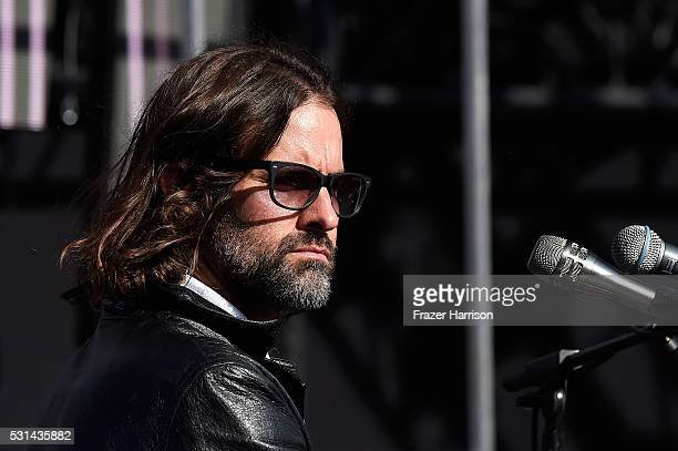 Recording artist Andrew Wyatt of music group Miike Snow performs onstage at KROQ Weenie Roast 2016 at Irvine Meadows Amphitheatre on May 14 2016 in...