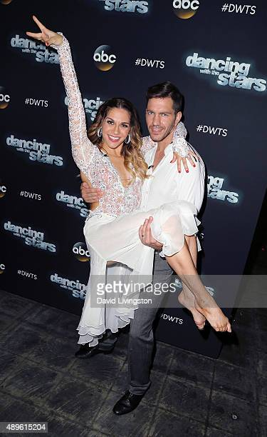 Recording artist Andy Grammer and dancer/TV personality Allison Holker attend 'Dancing with the Stars' Season 21 at CBS Televison City on September...