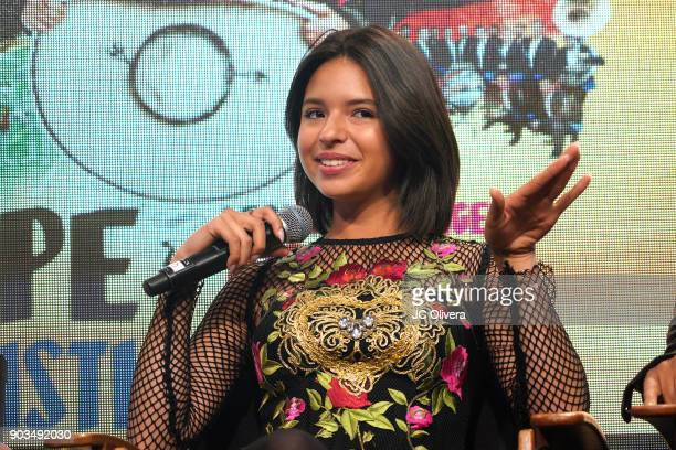 Recording artist Angela Aguilar attends a press conference for the upcoming Tour 'Pepe Aguilar y Familia presentan Jaripeo Sin Fronteras' with...