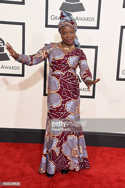 Recording artist Angelique Kidjo attends The 57th Annual GRAMMY Awards at the STAPLES Center on February 8 2015 in Los Angeles California