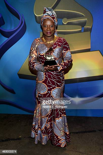 Recording artist Angelique Kidjo onstage at the Premiere Ceremony during The 57th Annual GRAMMY Awards at Nokia Theatre LA LIVE on February 8 2015 in...