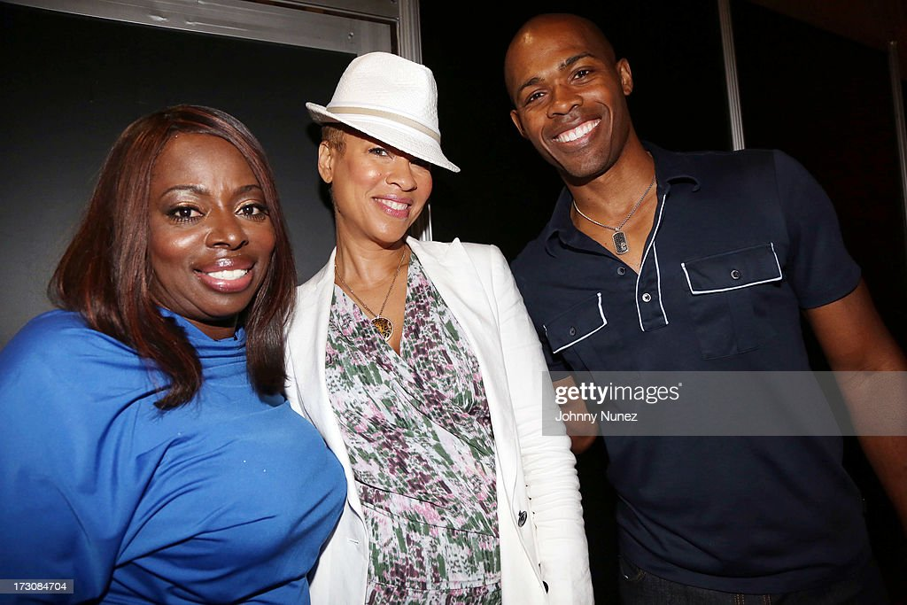 Recording artist Angie Stone, TV producer and author Tonya Lewis Lee, and Dr. Ian Smith attend the 2013 Essence Festival at the Ernest N. Morial Convention Center on July 6, 2013 in New Orleans, Louisiana.
