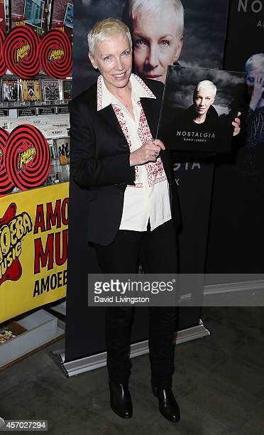 Recording artist Annie Lennox attends a signing for her album 'Nostalgia' at Amoeba Music on October 10 2014 in Hollywood California