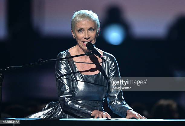 Recording artist Annie Lennox of Eurythmics performs onstage during 'The Night That Changed America A GRAMMY Salute To The Beatles' at the Los...