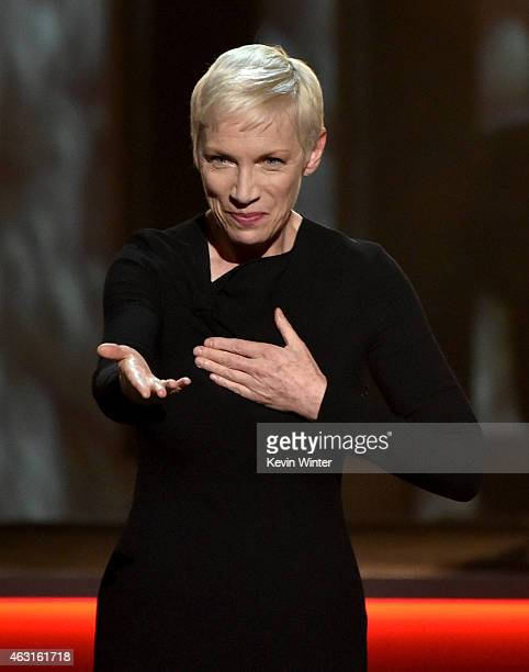 Recording artist Annie Lennox performs onstage during Stevie Wonder Songs In The Key Of Life An AllStar GRAMMY Salute at Nokia Theatre LA Live on...