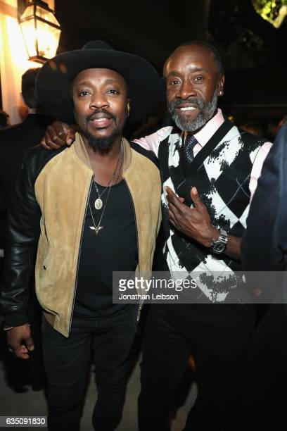 Recording artist Anthony Hamilton and actor Don Cheadle attends the Sony Music Entertainment 2017 PostGrammy Reception at Hotel BelAir on February 12...
