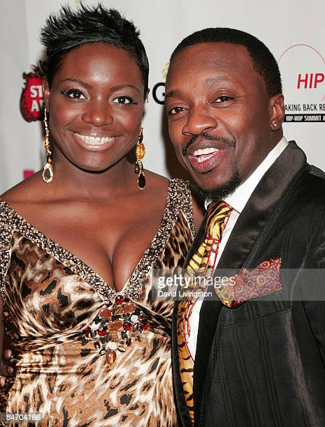 Recording artist Anthony Hamilton and his wife Tarsha McMillan attend Russell Simmons' Salute to Grammy Award Nominees celebration at a private...