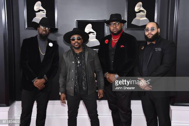Recording artist Anthony Hamilton and The Hamiltones attends the 60th Annual GRAMMY Awards at Madison Square Garden on January 28 2018 in New York...