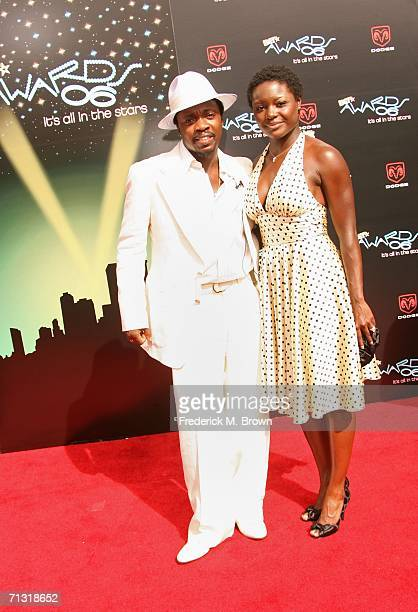 Recording artist Anthony Hamilton and wife Tarsha McMillan arrive at the 2006 BET Awards at the Shrine Auditorium on June 27 2006 in Los Angeles...