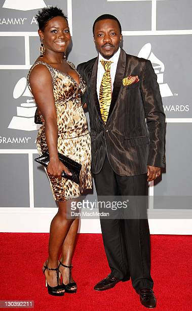 Recording artist Anthony Hamilton and wifeTarsha McMillan arrive at the 51st Annual GRAMMY Awards held at the Staples Center on February 8 2009 in...
