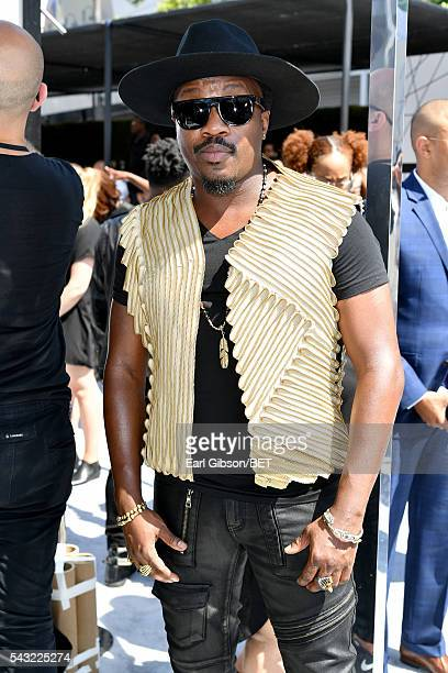 Recording artist Anthony Hamilton attends the Cover Girl glam stage during the 2016 BET Awards at the Microsoft Theater on June 26 2016 in Los...