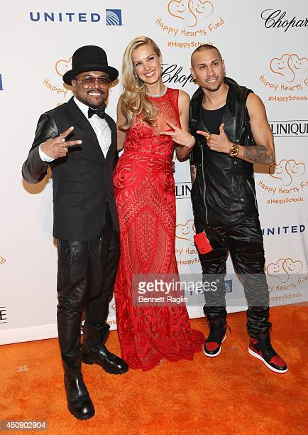 Recording artist Apldeap Petra Nemcova and Taboo attend the Happy Hearts Fund 10 year anniversary tribute of the Indian Ocean tsunami at Cipriani...